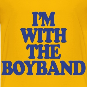 I'm With The Boy Band Kids' Shirts - Kids' Premium T-Shirt