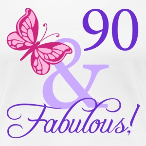 Fabulous 90th Birthday - Women's Premium T-Shirt