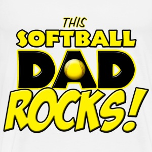 This Softball Dad Rocks T-Shirts - Men's Premium T-Shirt