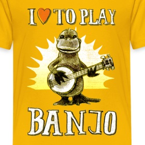 I love to play banjo Kids' Shirts - Kids' Premium T-Shirt