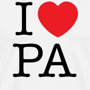 I Love Pennsylvania T-shirt - Men's Premium T-Shirt