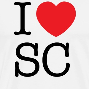 I Love South Carolina T-shirt - Men's Premium T-Shirt