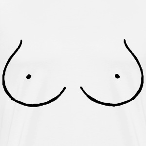 Boob Outline - Men's Premium T-Shirt