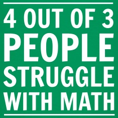 4 out of 3 People Struggle with Math Kids' Shirts
