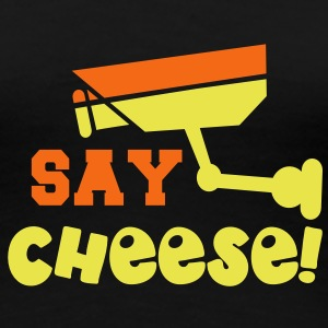 SAY CHEESE security camera in two colour Women's T-Shirts - Women's Premium T-Shirt