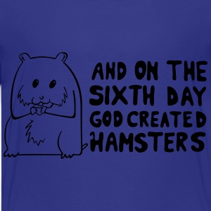 God created hamster on the 6th day Kids' Shirts - Kids' Premium T-Shirt