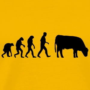 cow evolution T-Shirts - Men's Premium T-Shirt