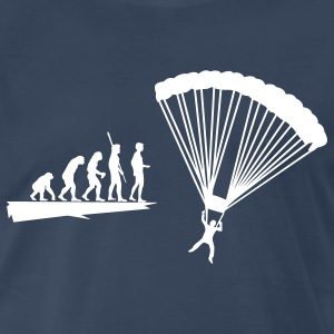Evolution parachutist Shirt - Men's Premium T-Shirt