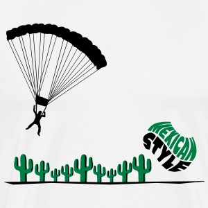 Mexican skydiver Shirt - Men's Premium T-Shirt