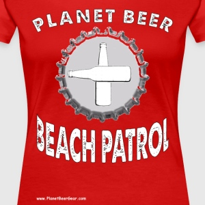 Planet Beer Beach Patrol Plus Size T-Shirt - Women's Premium T-Shirt