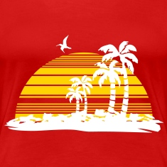 sunset island Women's T-Shirts