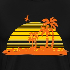 sunset island T-Shirts