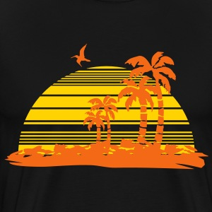 sunset island T-Shirts - Men's Premium T-Shirt