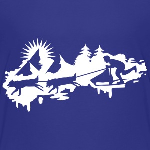 Sled dog race Graffiti Kids' Shirts - Kids' Premium T-Shirt