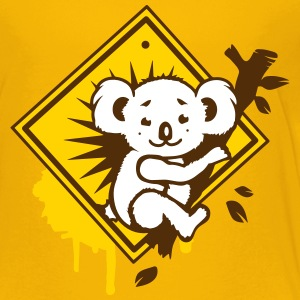 Koala road sign graffiti Kids' Shirts - Kids' Premium T-Shirt