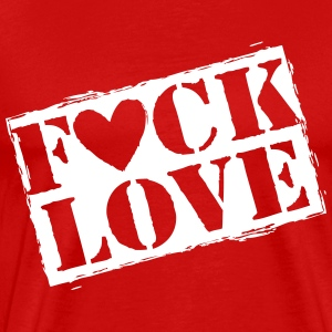 fuck love T-Shirts - Men's Premium T-Shirt