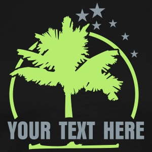 palm tree 'n stars (ot, 2c) T-Shirts - Men's Premium T-Shirt