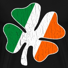 Big Vintage IRISH Flag Shamrock