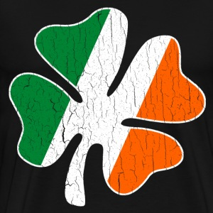 Big Vintage IRISH Flag Shamrock - Men's Premium T-Shirt