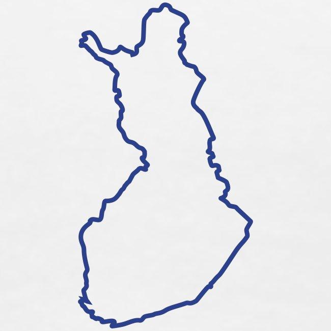 Finland maps outline | Women's Premium T-Shirt