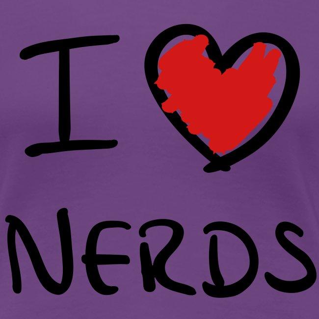 I love nerds shirt