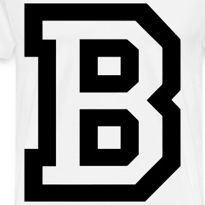 greek letter t letter t shirts spreadshirt 11157 | letter b men s premium t shirt