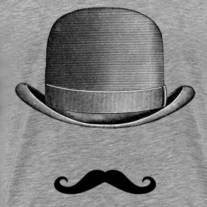 Mustache and Hat T-Shirts - Men's Premium T-Shirt