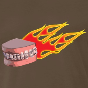 flaming braces - Men's Premium T-Shirt
