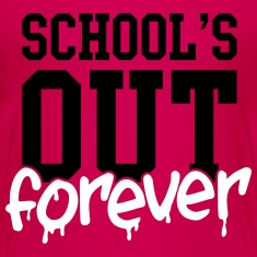 school's out forever Kids' Shirts