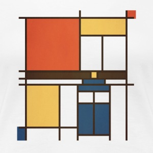 Mondrian Who - Women's Premium T-Shirt