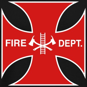 Maltese Cross Fire Department T-Shirts - Men's Premium T-Shirt