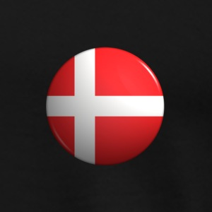 Country Button Flag Denmark - Men's Premium T-Shirt