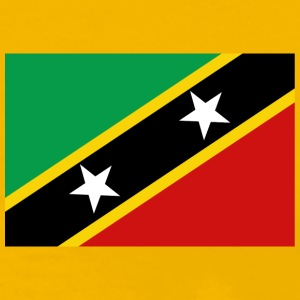 St Kitts & Nevis Flag T-Shirt - Men's Premium T-Shirt