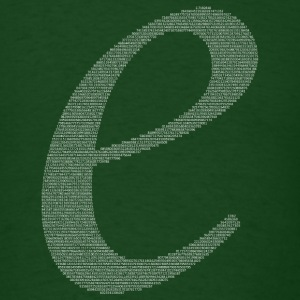 Numbers in decimals: Natural Constant e T-Shirts - Men's T-Shirt