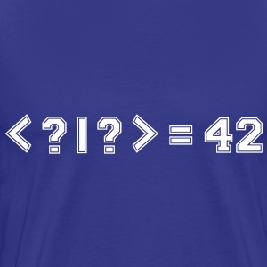 Best Quantum Joke Ever: Bra-Ket = 42 (College) - Men's Premium T-Shirt