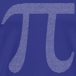 Numbers in decimals: Geometric Constant Pi T-Shirts - Men's Premium T-Shirt