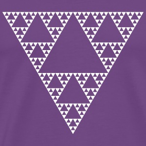 Fractals: Sierpinski Triangle (high detail) - Men's Premium T-Shirt
