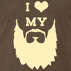 I Love My Beard T-Shirts - Men's Premium T-Shirt