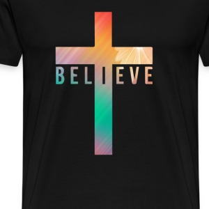 i believe cross T-Shirts - Men's Premium T-Shirt