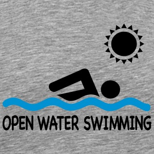 open water swimming T-Shirts - Men's Premium T-Shirt