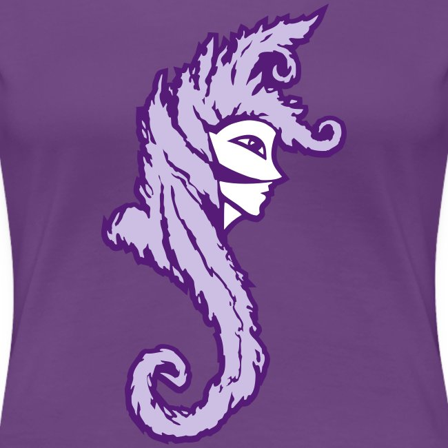 Okami (Purple/Lavender) Women's Fitted Classic T-Shirt