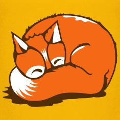 A sleeping fox Kids' Shirts