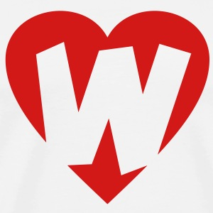 I love W - Heart W T-Shirts - Men's Premium T-Shirt