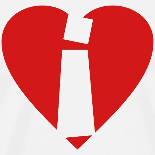Heart i - I love i - Letter i