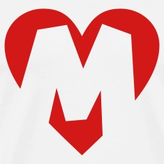 I love M T-Shirt - Heart M - Heart with letter M
