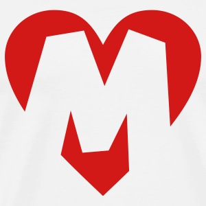 I love M T-Shirt - Heart M - Heart with letter M - Men's Premium T-Shirt