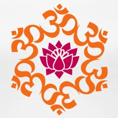 OM Lotus, Meditation, Yoga, AUM, Buddhism Women's T-Shirts