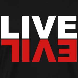 Live Evil on Black - Men's Premium T-Shirt