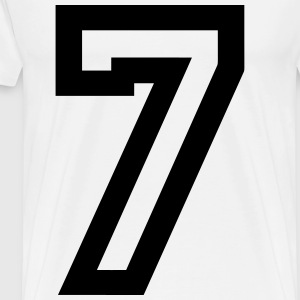 Number 7 - Men's Premium T-Shirt