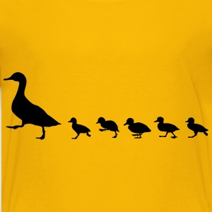 duck family, duck and ducklings Kids' Shirts - Kids' Premium T-Shirt